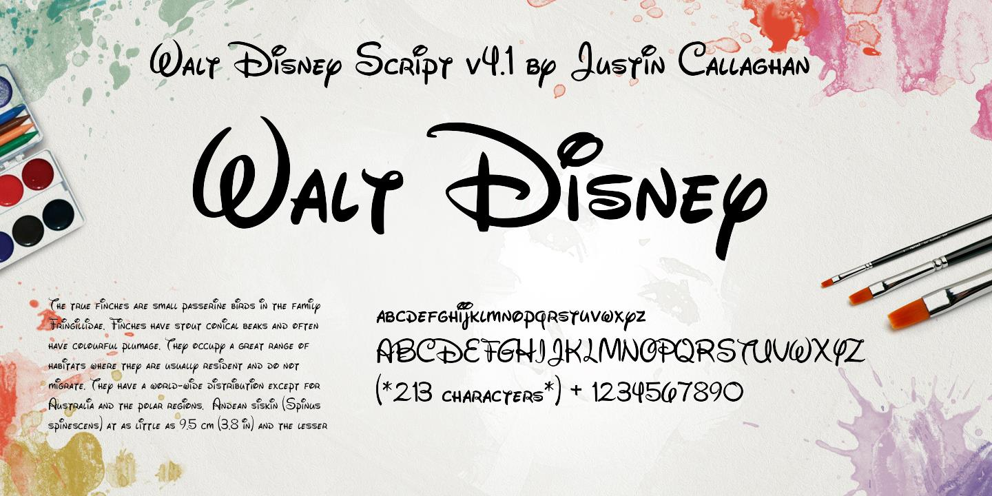 Walt Disney Script v4 1 font - Walt Disney Script v4 1 font download