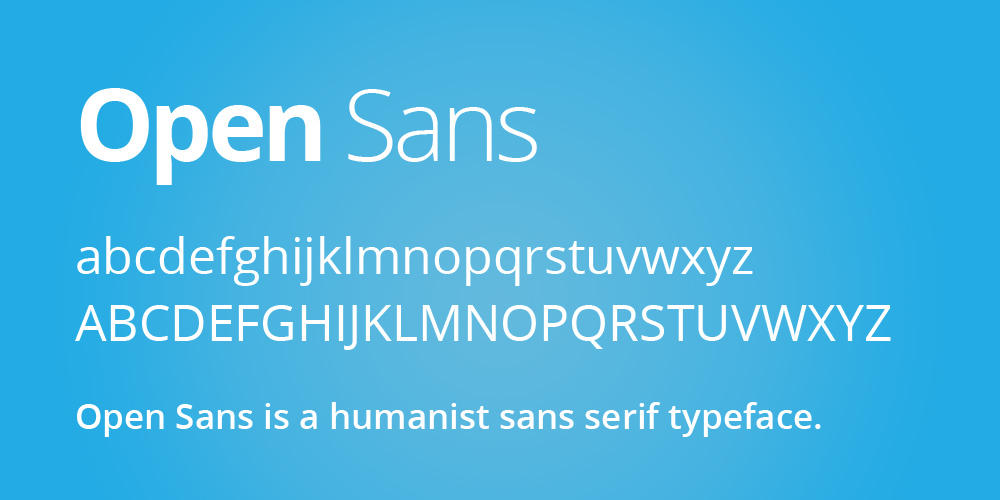 open sans font download for web